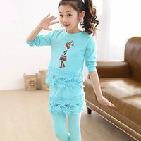 beautiful postage - 2016 girls long sleeved dress three kinds of color optional small broken flower decoration is so beautiful free postage