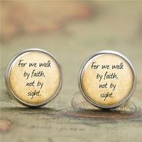 bible earrings - 10pairs Bible earring for we walk by faith not by sight earring Glass Photo Christian earring