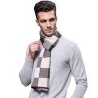 Wholesale Fashion Men s scarves Newest winter wool scarf wrap Classic Design Collar Brand scarves