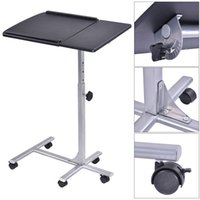 adjustable height laptop table - Adjustable Angle Height Rolling Laptop Notebook Desk Stand Over Sofa Bed Table