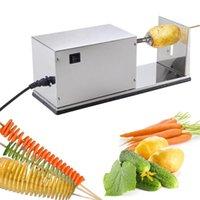 Wholesale Electric Potato Tornado Slicer Automatic Cutter Machine Twister Spiral Potato Chips Machine