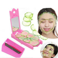 Wholesale Facial Beauty Cucumber Potato Steel Slicer Peeler Cutter Accessories Mirror Tool