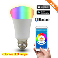 android lampe - LED RGB Bulb lampe Bluetooth Smart LED Light Dimmable E27 Lampe control by IOS Android app group control