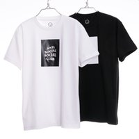 t-shirts no logo - Anti Social Social Club Box Logo Tee Men T Shirt Hip Hop Fashion GD Kanye Yeezus Men Tees Shirt Palace Skateboards Brand Tops