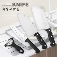 Wholesale China yangjiang knives stainless steel kitchen knives set fruit knife is a cleaver treatment