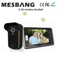 Wholesale 2 G Wireless Video Door Phone Doorbell Intercom One Camera and one Monitor No Need Cable Easy to Install