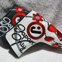 Wholesale New J Golf headcover High quality PU T Putter headcover with white black Colors in choice Putter clubs headcover