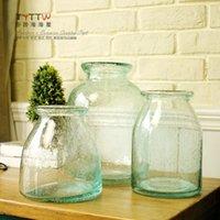 Wholesale 2015 NEW European style living room hydroponic vase without handle vase raindrop appearance vase office decoration decorations