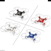 Wholesale FQ777 Mini Pocket Drone CH Axis Gyro Quadcopter With Switchable Controller RTF RC Airplane Random Color Delivery