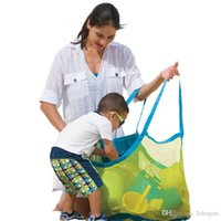 Wholesale Free DHL cm Beach Mesh Bags Sand Away Collection Toy Storage Bag For Sea Shell Kids Children Tote Organizer Mommy s Helper P