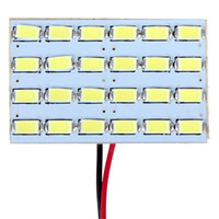 Чтение панели Цены-Универсальная автомобильная светодиодная панель купола Интерьер Лампа для чтения Совет белый цвет 24 SMD 5730 12V CEC_454