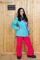 Wholesale Newest High Quality Cotton Very Warm Candy Women Blue Winter Sport Wear Female Waterproof Snowboarding Jacket Skiing Coat