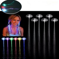Wholesale Luminous LED Hair Extension Flash Braid Party Girl Light Up Hair Glow Hair Clips Party Christmas Halloween Night Decoration PPA319