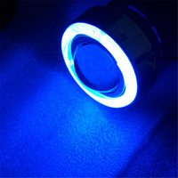 Wholesale Halogen Fog Lights Projector Lens for Car Lighting with LED Angel Eyes White Blue Left Right Fog Lights H3