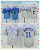 Wholesale New Product Men s Chicago White Sox Baseball Jersey Nellie Fox Luis Aparicio Light Blue Gary Throwback Stitched Jerseys