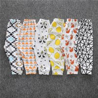 Wholesale 2016 New Kids Spring Autumn Toddler Cartoon Pants Harem Cotton Fox Panda Lemon Fruit Pants Sweet Toddler Baby Pants Elastic Waist MC0162