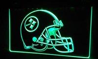 animal pittsburgh steelers - LS407 g Pittsburgh Steelers Helmet Neon Light Sign jpg