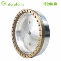 Wholesale 1pc half segment diamond wheel for glass edger Dia150x8x10 hole grit China manufacturer forturetools BL009