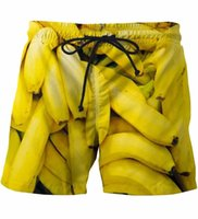 banana pants - Bananas Beach Shorts Mens Funny D Short Pants Fruits Print Beach Shorts Rock Streetwear Sport Board Shorts