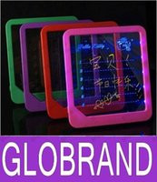 Wholesale LED Message Board Erasable Electronic Fluorescent Writing Board LED Advertising Board Whiteboards GLO660