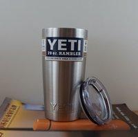 Wholesale 2016 hot Yeti oz Cups Cooler YETI Rambler Tumbler Travel Vehicle Beer Mug Double Wall Bilayer Vacuum Insulated with logo free DHL