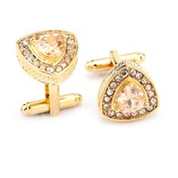 Wholesale Luxury high end banquet eight hearts eight arrows AAA zircon Cufflinks Cuff buckle G XK triangle quality men and women