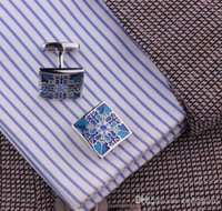 Wholesale Classic Mens Wedding Party gift shirt Square cufflinks cuff links C00124 SMAD