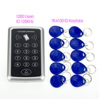 Wholesale 125KHz Door Access Control system users ID controller keypad with pieces RFID Key Fobs