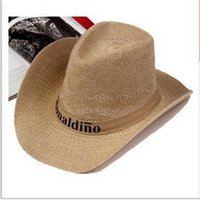 beach logo designs - 2016 professional factory price straw wide brim hat men with your design and logo
