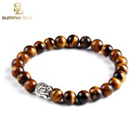 buddha beads - 2016 Newest Natural Stone Buddha Charm Bracelets With Stones Beads Bracelets For Women Men Silver Turkish Jewelry