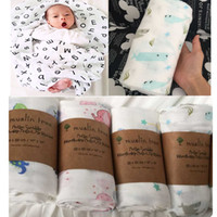 bamboo muslin blankets - Super Soft Multi use Newborn Baby Muslin swaddle Infant Parisarc Cross Wrap Organic Muslin Bamboo Cotton Blanket