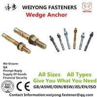 Wholesale Wedge Anchor Made By Yongnian Weiyong Fasteners DIN Stainless Stee ZINC HDG OEM QA Rapid delivery