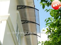 aluminum frame canopy - YP100200 x200cm x79in aluminum frame polycarbonate awning metal frame PC window canopy entrance cover
