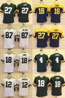 aaron rodgers jersey youth - Packers Youth Jerseys Eddie Lacy Aaron Rodgers Elite Version Stitched Jerseys Green White Throwback
