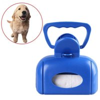 Wholesale New Creative Blue Plastic Spring Action Pickup Pet Dog Pooper Scooper Cleaner Box Convenient and Good Choice