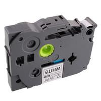 Wholesale PT TZ2 Black PRINT Printer Ribbon on White Label Tape Cassette P Touch Compatible for Brother TZ TZe P Touch Laminated mm maker