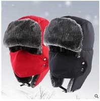 Wholesale cotton masks anti snow thickened wool warm hat Trapper Hats cap men and women ear monochrome models paternity DHL freeship