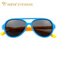 baby boy silver frames - IVSTA Silicone Children s Sunglasses Pilot Frame Girls Glasses Boys Polarized Lenses Kids Frame Baby Flexibility aviator dropshipping