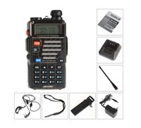 Wholesale BaoFeng BF UV5RE Walkie Talkie Dual Band Two Way Radio W CH UHF VHF FM UV5RE Display Radio High Quality