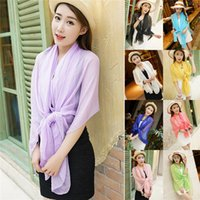 Wholesale Hot Seller Girl s Lady s Shawl Lightweight Scarf Sarongs Wrap Bikini Cover up Beach Sunscreen Chiffon Size x CM EA72
