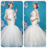 Wholesale New Maternity Photography Dress Props Clothes For Pregnant Women Shawl Dress Pregnancy Clothing Photo Portrait Fishtail Long Culottes