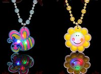 angels market - Hot flash light emitting luminous necklace pendant necklace beads night market stall supply children s small toys