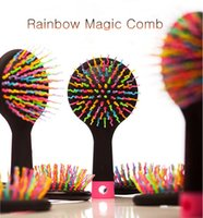 Wholesale Hot High Quality Salon Rainbow Magic comb Cute fashion Detangling Creative Special comb Healthcare Massage