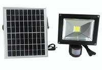 10W Energía Solar LED Floodlight Pir Infrarrojos Movimiento Carport Seguridad Lámpara De Alto Brillo Al Aire Libre Impermeable Jardín Flood Wall Light