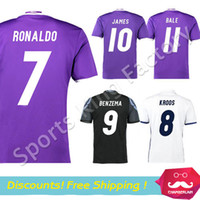 Wholesale Chandal JAMES Soccer Jersey REAL MODRIC football shirts Camiseta Ronaldo Maillot Shirt Bale jerseys Camisa Madrid jersey