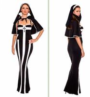 Wholesale Hot Selling Women sexy halloween costumes Erotic Deluxe Nun Costume F67036