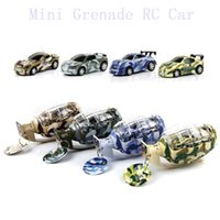 Wholesale Mini CH RC car in different colors of grenade rc cars mini grenade shape remote control car
