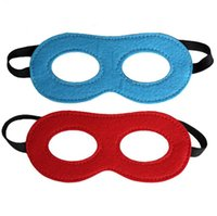 Wholesale 50pcs Children felt mask Two color double sided role play party propsCosply Eye Masks Eye Shades for Superhero Capes drop shipping