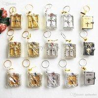 bible english version - Gold English Version Mini Cross Bible Christian Keychain Religious Key Chain Key ring Key Holder Gift Souvenirs Porta Chaves