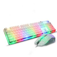 Wholesale Mechanical keyboard and mouse set backlight Wrangler mouse and keyboard set light manipulator for Internet gaming keyboard
